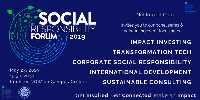 Net Impact's Social Responsibility Forum Edition 13 Event Logo