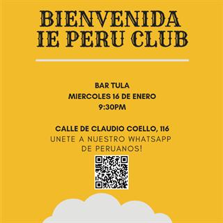 Bienvenida IE PERU CLUB - Enero 2019