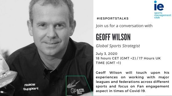 #IESportsTalks with Geoff Wilson, Global Sports Strategist