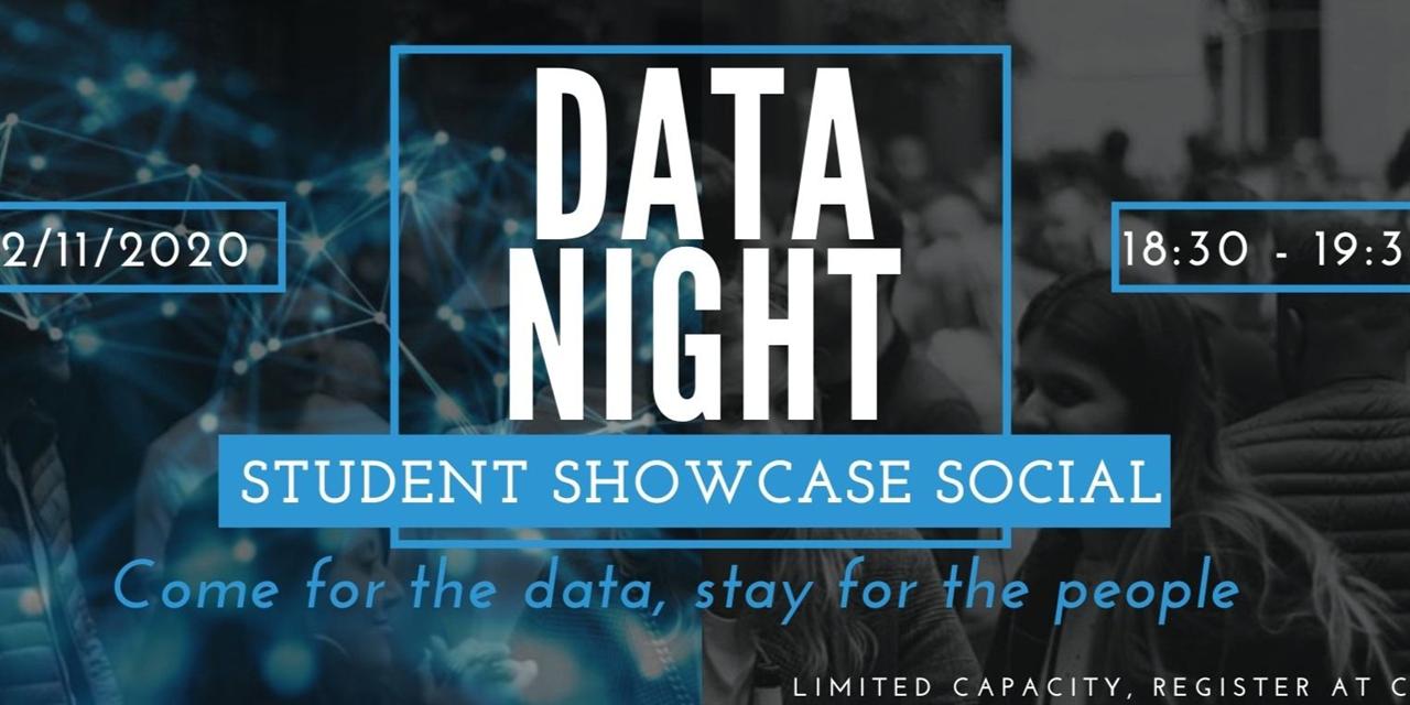 Data Night: Student Showcase Social Event Logo