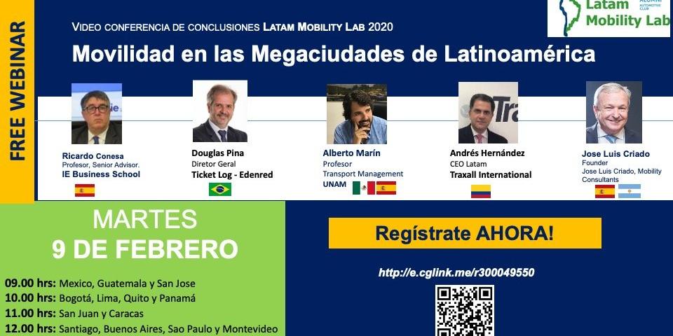La movilidad en las Grandes Ciudades como factor de desarrollo Conclusiones del Latam Mobility Lab Event Logo