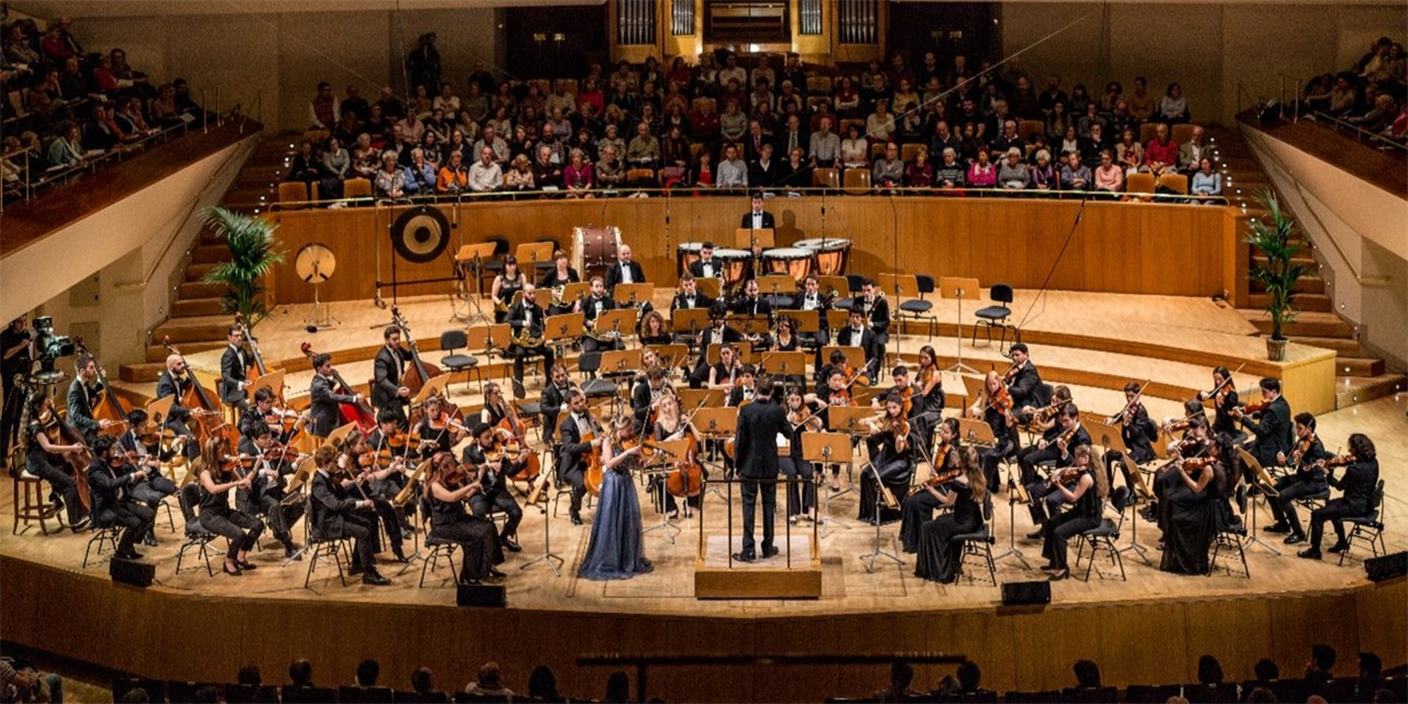Concert in the National Music Auditorium in Madrid | Freixenet Symphony Orchestra of the Escuela Superior de Música Reina Sofía Event Logo