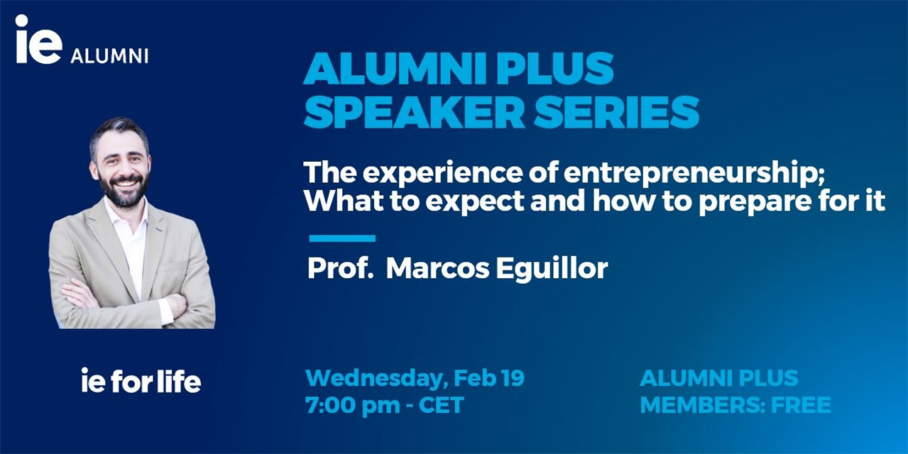 The experience of entrepreneurship; What to expect and how to prepare for it Event Logo