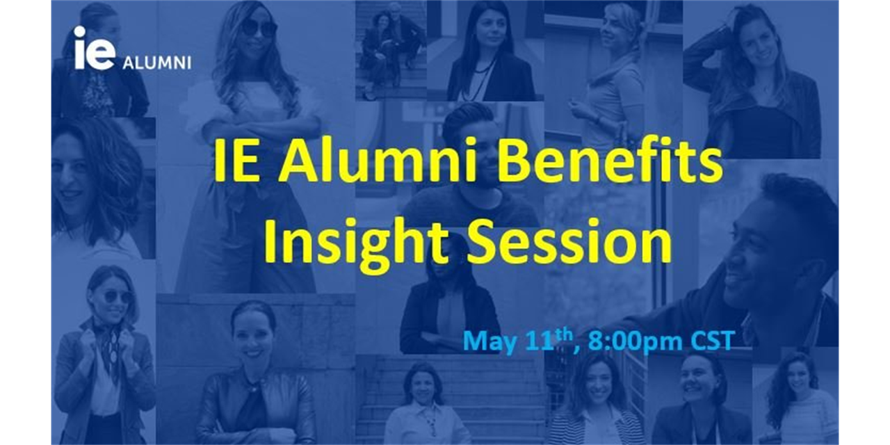 IE Alumni Benefits Insight Session Event Logo