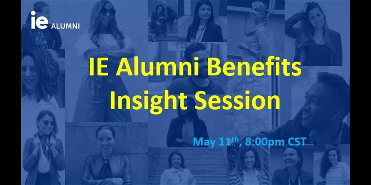 IE Alumni Benefits Insight Session Event Logo