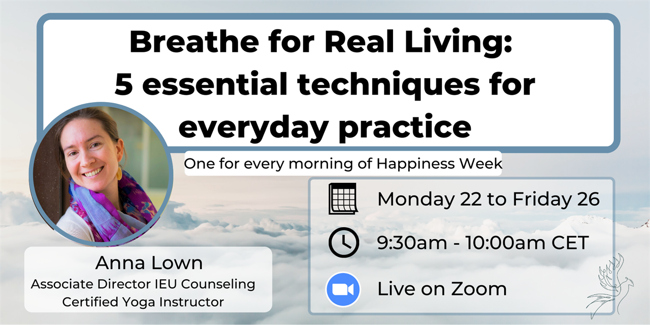Breathe for Real Living: 5 essential techniques for everyday practice Event Logo