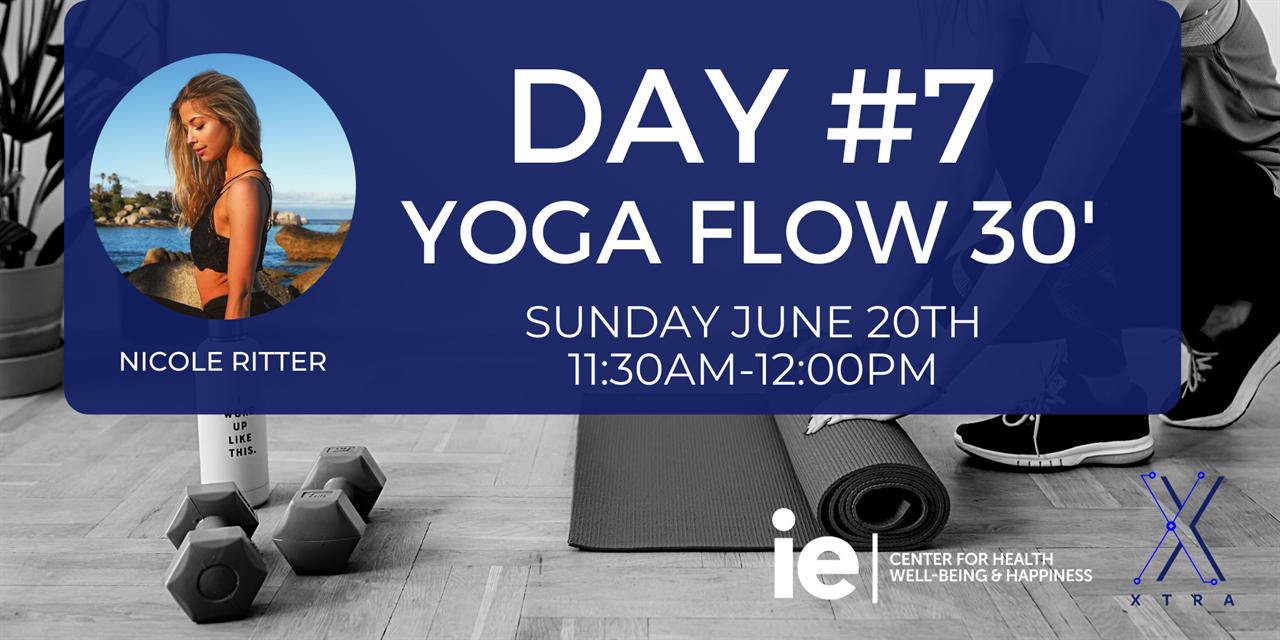 Day#7 Yoga Flow 30' (Live Class) Event Logo