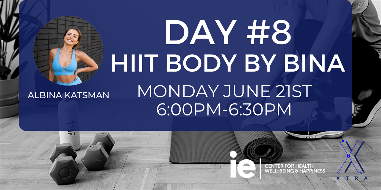 Day#8 HIIT Body by Bina (Live Class) Event Logo