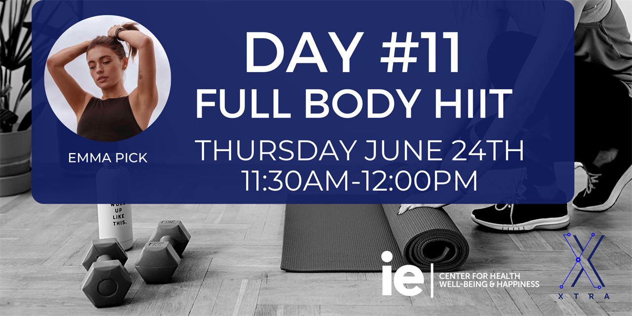 Day#11 Full Body HIIT (Live Class) Event Logo