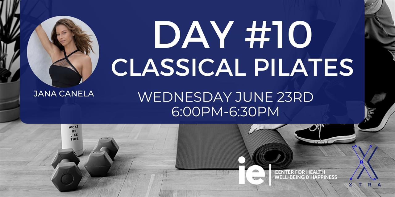 Day#10 Classical Pilates (Live Class) Event Logo