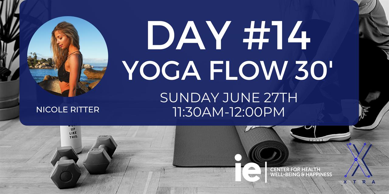 Day#14 Yoga Flow 30' (Live Class) Event Logo