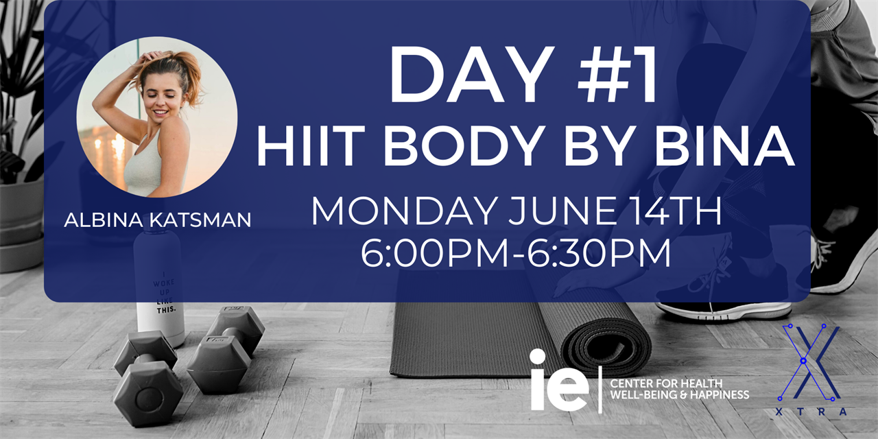 Day#1 HIIT Body by Bina (Live Class) Event Logo