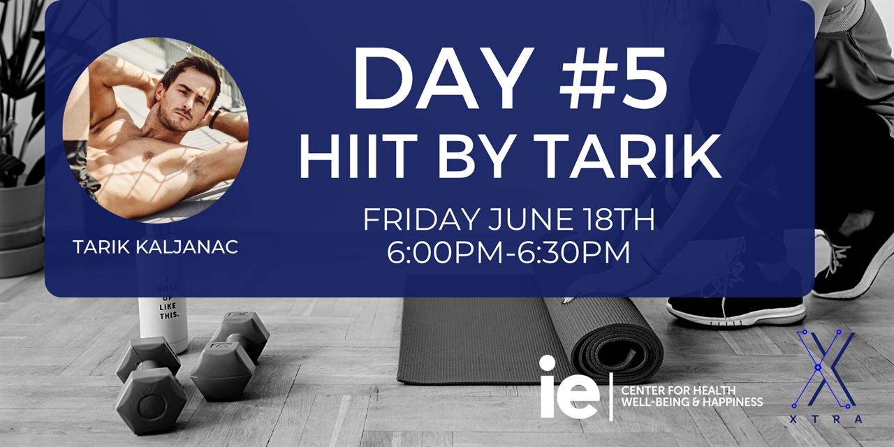 Day#5 HIIT with Tarik (Live Class) Event Logo