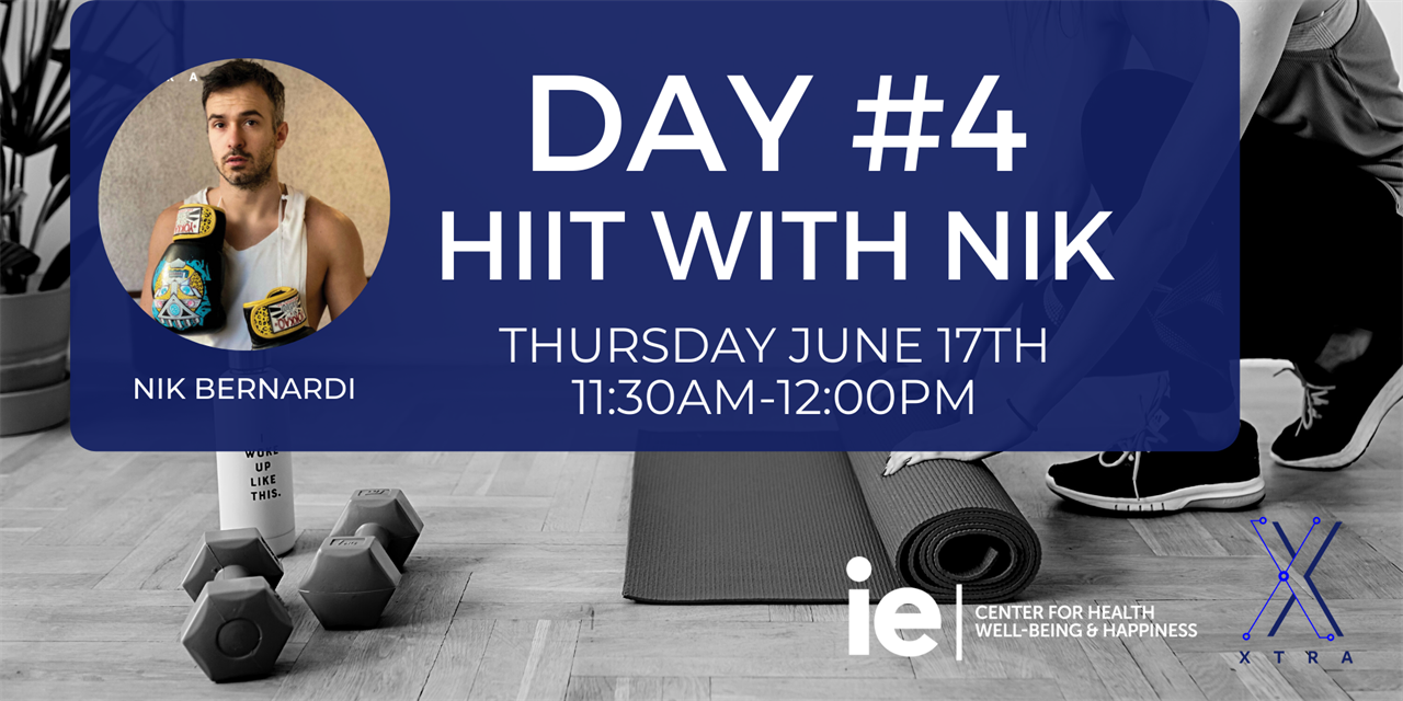 Day#4 Power HIIT with Nik (Live Class) Event Logo
