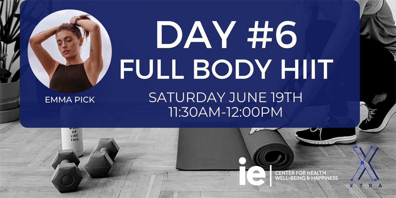 Day#6 Full Body HIIT (Live Class) Event Logo