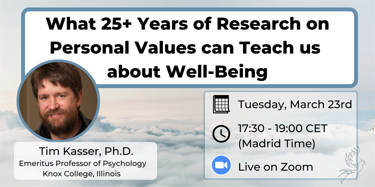 What 25+ Years of Research on Personal Values can Teach us about Well-Being – A Conversation with Emeritus Psychology Professor Tim Kasser Event Logo