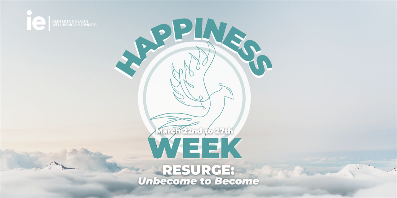 Happiness Week 2021 | Resurge: Unbecome to Become Event Logo