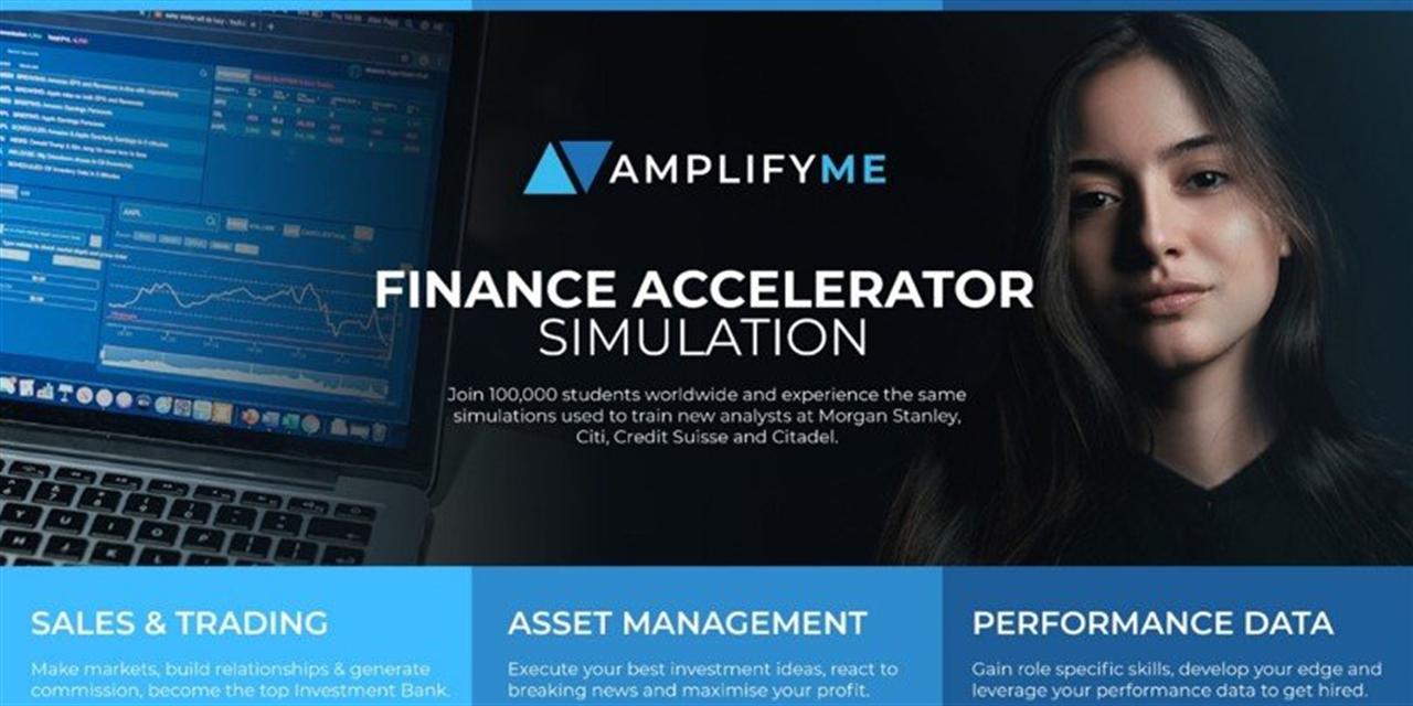 AmplifyMe Finance Accelerator Simulation Event Logo