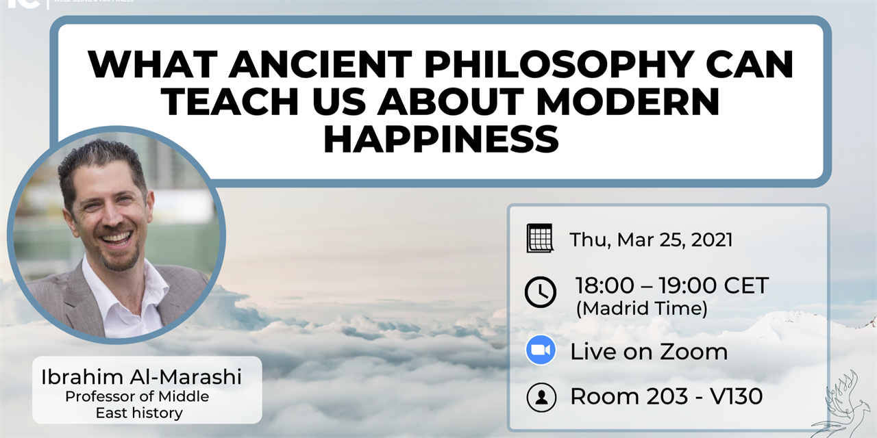 What Ancient Philosophy Can Teach Us About Modern Happiness. Event Logo